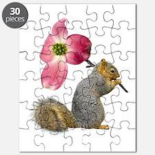 Squirrel Pink Flower Puzzle