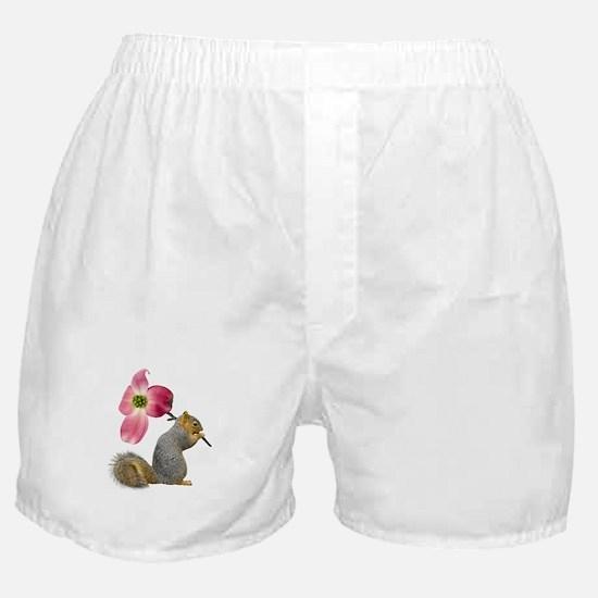 Squirrel Pink Flower Boxer Shorts