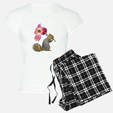 Squirrel Pink Flower Pajamas