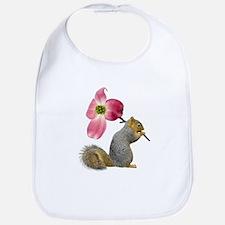 Squirrel Pink Flower Bib
