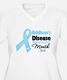 Addisons Disease Awareness Month Plus Size T-Shirt