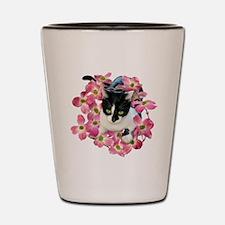 Cat Pink Dogwood Shot Glass