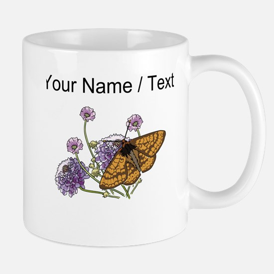 Custom Monarch Butterfly And Flowers Mugs
