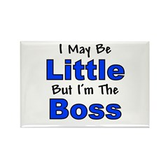 I'm the Boss - Blue Rectangle Magnet (100 pack)