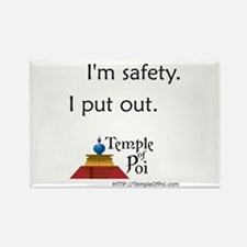 Temple of Poi Safety Rectangle Magnet