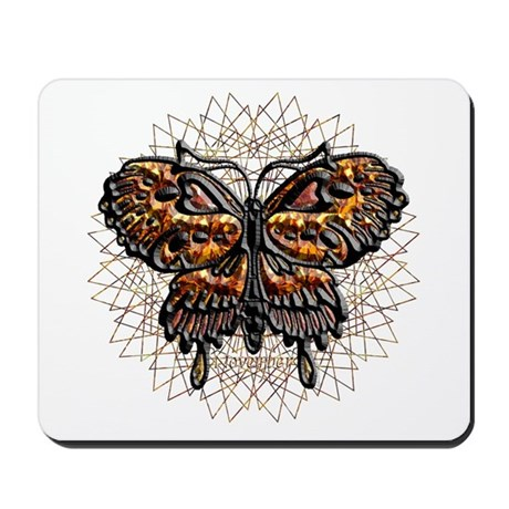 November Birthstone Butterfly Mousepad