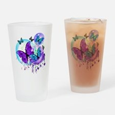 Bubble Butterflies CM BB Drinking Glass