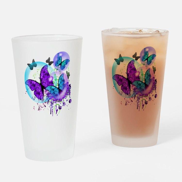 Bubble Butterflies CM BB Drinking Glass