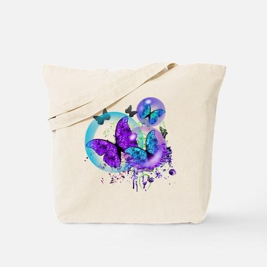 Bubble Butterflies CM BB Tote Bag