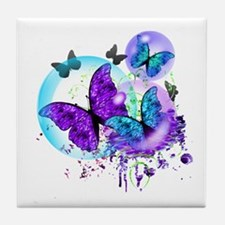 Bubble Butterflies CM BB Tile Coaster