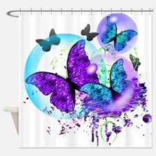 Bubble Butterflies CM BB Shower Curtain