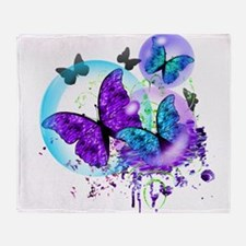 Bubble Butterflies CM BB Throw Blanket