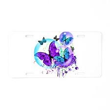 Bubble Butterflies CM BB Aluminum License Plate