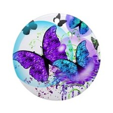 Bubble Butterflies CM BB Ornament (Round)