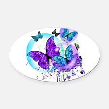 Bubble Butterflies CM BB Oval Car Magnet