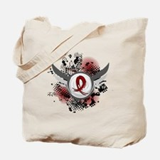 Grunge Ribbon Wings Amyloidosis Tote Bag