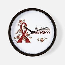 Awareness 6 Amyloidosis Wall Clock
