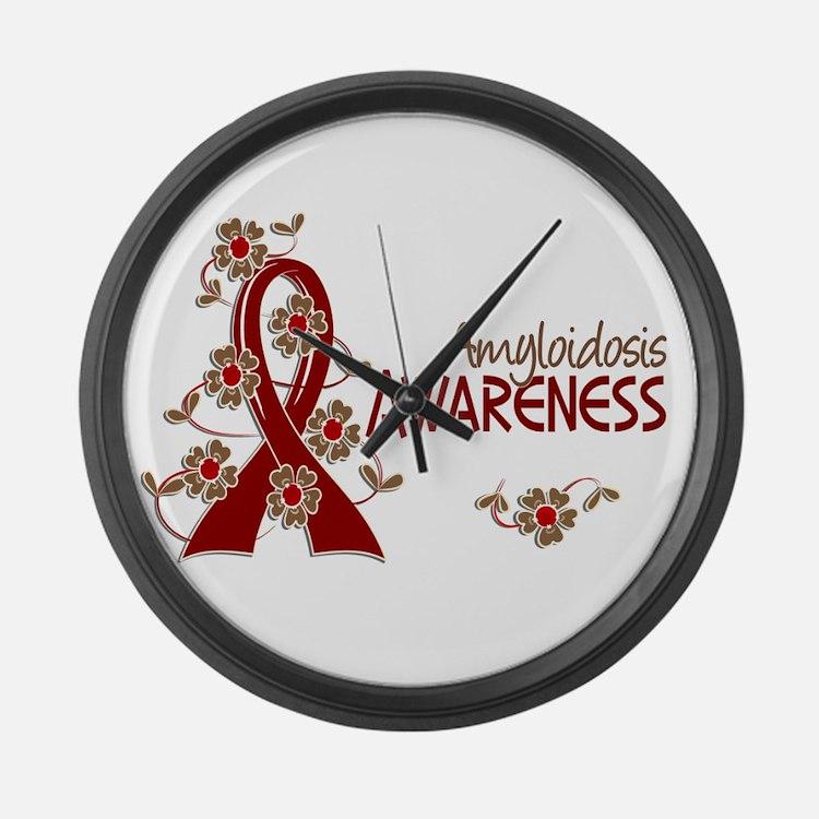 Awareness 6 Amyloidosis Large Wall Clock