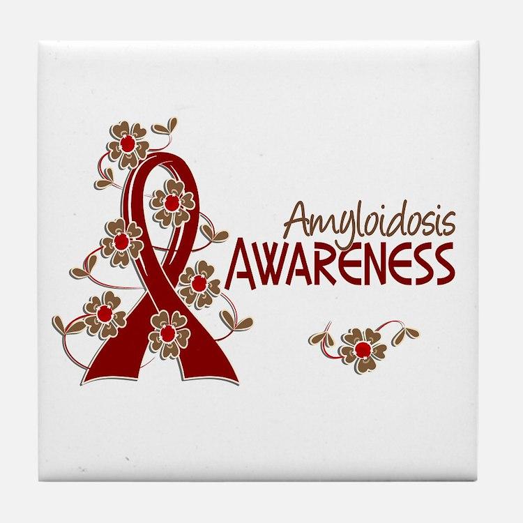 Awareness 6 Amyloidosis Tile Coaster