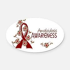 Awareness 6 Amyloidosis Oval Car Magnet