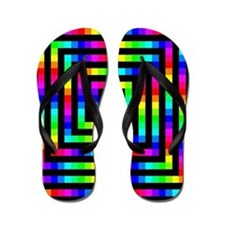 Colorful Art Flip Flops