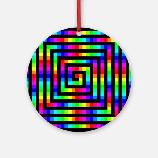 Colorful Art Round Ornament