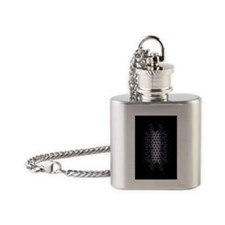 Abstract Art Flask Necklace