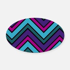 Abstract Art Oval Car Magnet