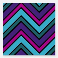"""Abstract Art Square Car Magnet 3"""" x 3"""""""
