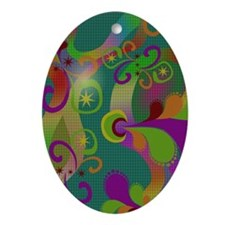 Abstract Art Oval Ornament