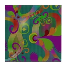 Abstract Art Tile Coaster