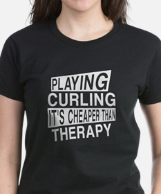 Awesome Curling Player Design Tee