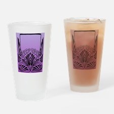 Purple Art Drinking Glass
