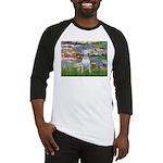 Lilies2-Bull Terrier (P) Baseball Jersey