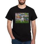 Lilies2-Bull Terrier (P) Dark T-Shirt