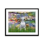 Lilies2-Bull Terrier (P) Framed Panel Print