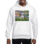 Lilies2-Bull Terrier (P) Hooded Sweatshirt