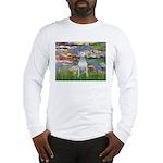 Lilies2-Bull Terrier (P) Long Sleeve T-Shirt
