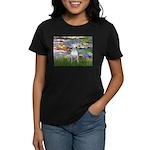 Lilies2-Bull Terrier (P) Women's Dark T-Shirt