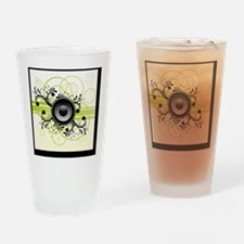 Speakers Art Drinking Glass