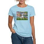 Lilies2-Bull Terrier (P) Women's Light T-Shirt