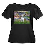 Lilies2- Women's Plus Size Scoop Neck Dark T-Shirt