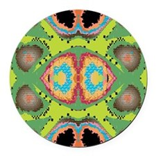 Abstract Art Round Car Magnet