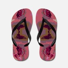 Abstract Art Flip Flops
