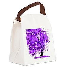 Purple Tree Art Canvas Lunch Bag