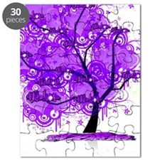 Purple Tree Art Puzzle