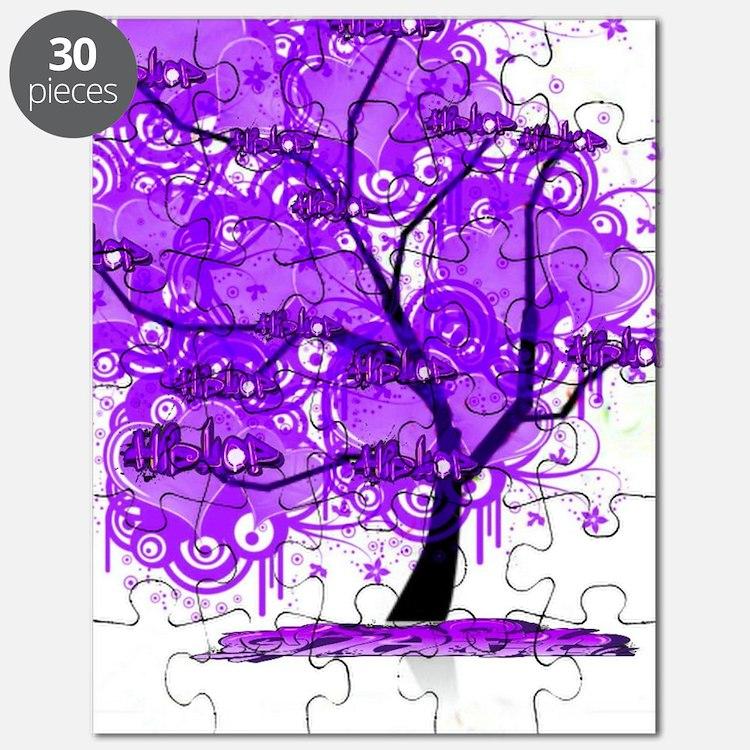 Purple Tree Art Puzzle