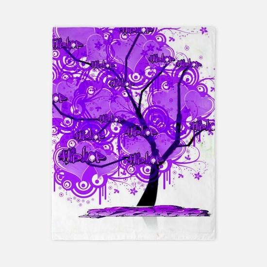 Purple Tree Art Twin Duvet
