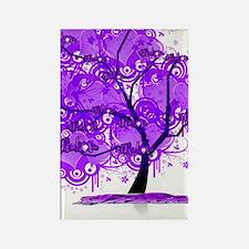 Purple Tree Art Rectangle Magnet