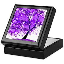 Purple Tree Art Keepsake Box